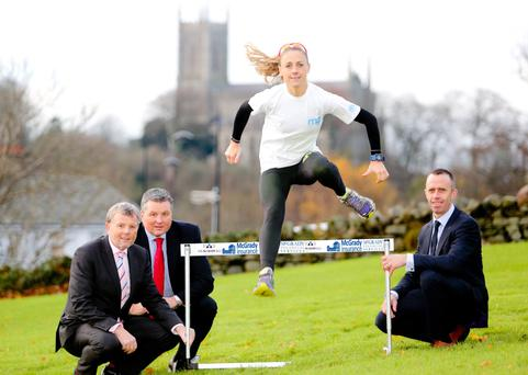 Brazil here I come: sponsorship from Downpatrick businessmen Fintan and Malachy McGrady and Philip McCrickard will help Kerry O'Flaherty in her prepartions for Rio Olympics