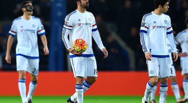 Dejection: Nemanja Matic, Diego Costa and Oscar trudge off