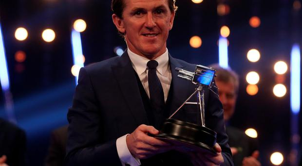 Emotional moment: Tony McCoy admitted picking up the SPOTY Lifetime Achievement award in Belfast was overwhelming