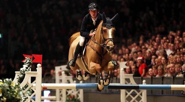 Bertram Allen was disqualified from the Olympia Grand Prix on Monday night