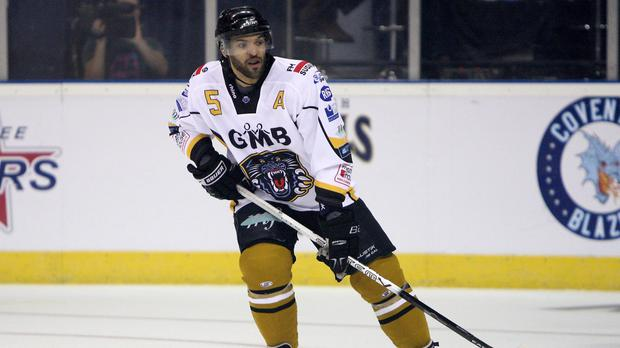 David Clarke scored twice as Nottingham Panthers trumped fierce rivals Sheffield Steelers