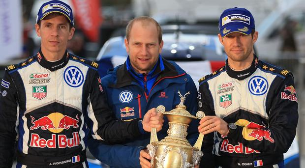 Sebastien Ogier, right, leads the way in Monaco