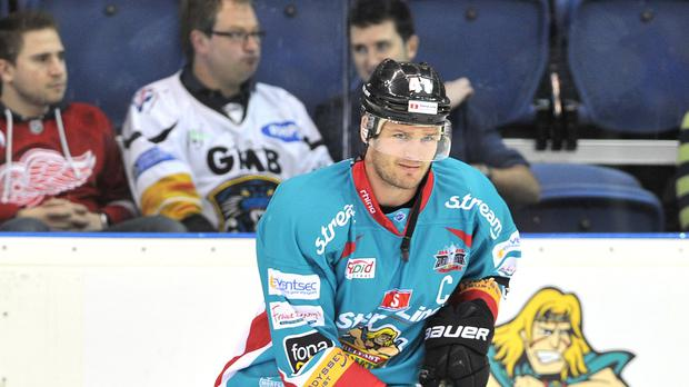 Adam Keefe helped Belfast Giants to victory over Dundee Stars