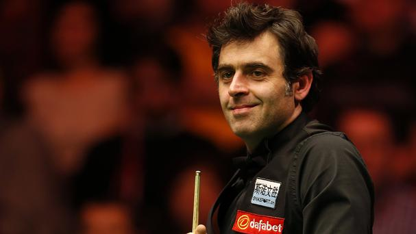 Ronnie O'Sullivan, pictured, needed just 55 minutes to beat Jimmy Robertson