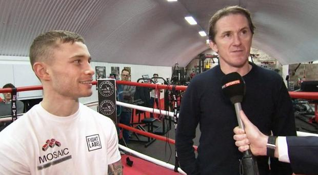 Good luck champ: Sir AP McCoy catches up with Carl Frampton ahead of the Manchester Arena showdown with Scott Quigg