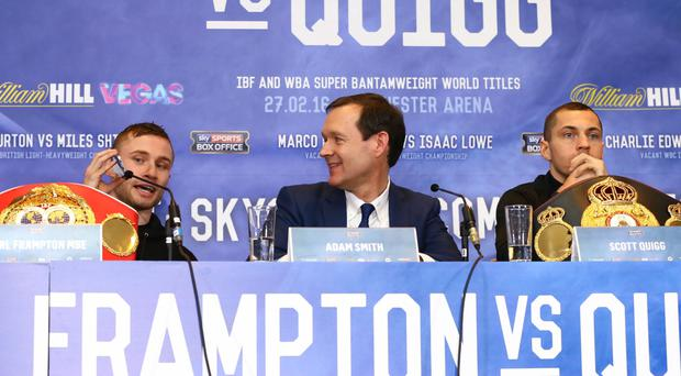 Carl Frampton plays Stevie Wonder hit 'Superstition' in his final press conference with Scott Quigg