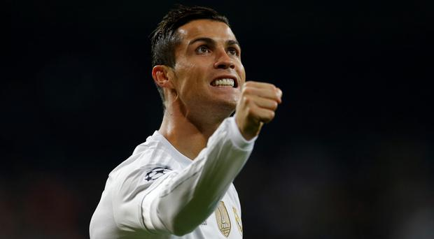 To the fore: Cristiano Ronaldo both scored and set up a goal