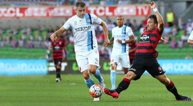 Rare sight: Aaron Hughes hasn't featured lately for Melbourne City