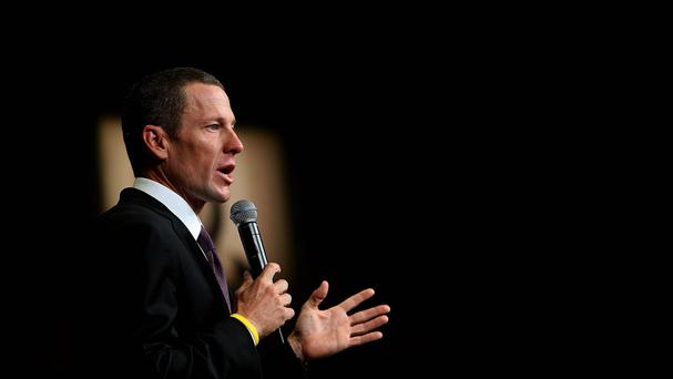 Lance Armstrong was due to speak in Dublin on Friday