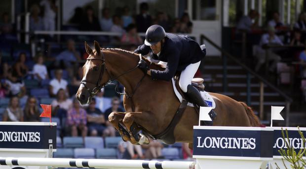 William Funnell and Billy Angelo had to be content with second place in the Holly Speed Stakes at Olympia's London International Horse Show