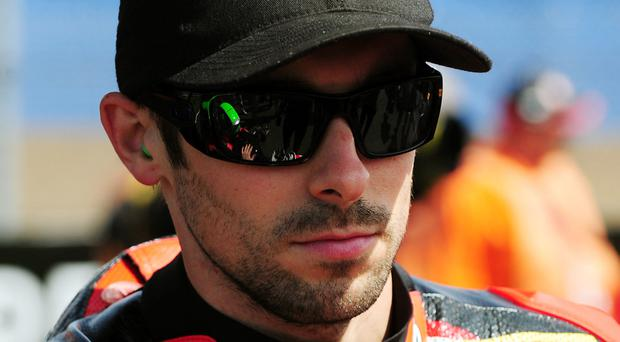 Eugene Laverty suffered a heavy crash but will ride again on Sunday