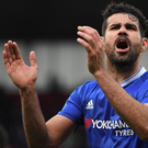 Wants out: Diego Costa has his heart set on a return to Atletico Madrid