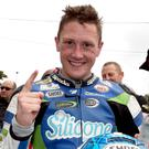 Speed king: Dean Harrison set a new lap record at Dundrod