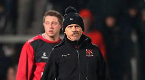 Pressure: Coach Les Kiss is aware of the challenge Ulster face away to French side La Rochelle