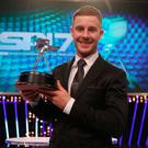 Jonathan Rea with his BBC sports personality award