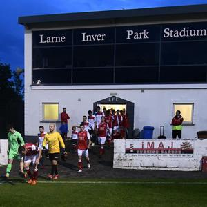 Inver Park, home of Larne Football Club, is now on the market
