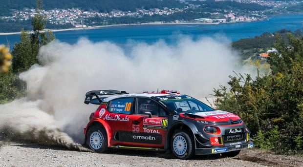 Last event: Kris Meeke in action during Rally Portugal