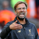 Shouting the odds: Jurgen Klopp has urged Liverpool to keep fighting