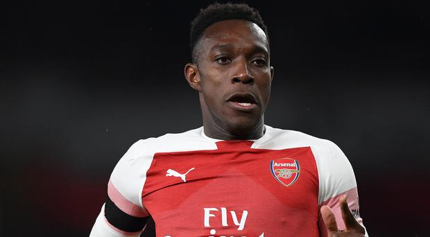 Ankle damage: Danny Welbeck was stretchered off