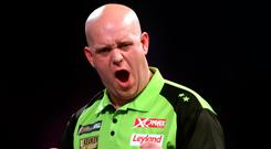 World aim: Michael Van Gerwen is vying for his third title