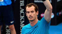 Victory salute: Andy Murray