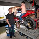Family matters: Ballymoney motorcycle rider Paul Robinson with his son Max at their home