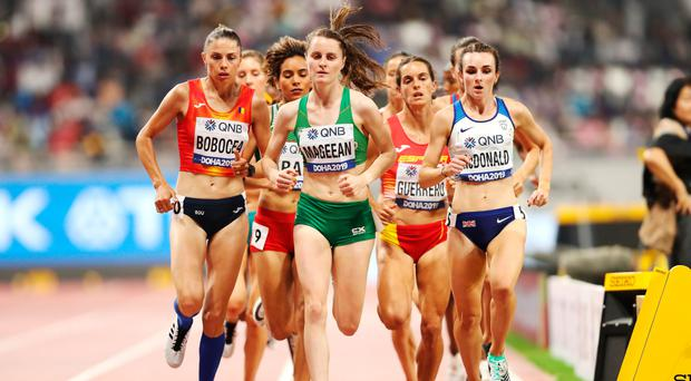 Final countdown: Ciara Mageean qualifies for the World Championship 1500m final in Doha last night