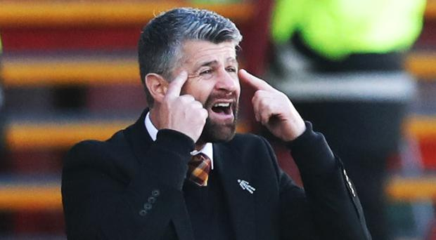 On the up: Motherwell boss, and former NI international, Stephen Robinson
