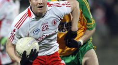 Former Tyrone footballer Enda McGinley was forced to pull on the Errigal Ciaran jersey last year