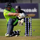 In vain: Gary Wilson hit 22 for Ireland but they fell to defeat by an agonising one run