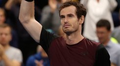 Emotional win: Andy Murray tears up after winning the title in Antwerp