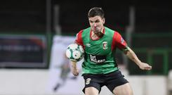 Looking up: Gavin Peers is determined to help Glentoran finish as high up the table as possible