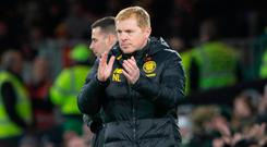Top stuff: Neil Lennon is happy with how Celtic are playing
