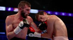 All in: Anthony Cacace (left) believes he can turn his career around on Saturday night