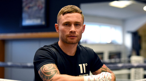 Business time: Carl Frampton is raring to go