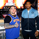 Looking around: Andy Ruiz Jr and Anthony Joshua inside the Diriyah Arena in Saudi Arabia