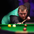Soft-shoe shuffle: Mark Allen eased his way past Scott Donaldson and into the semi-finals