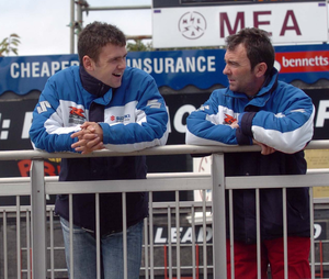 Family plan: William and Robert Dunlop at the 2006 TT