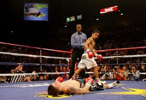 Hatton was knocked out in the second round by Pacquiao (Dave Thompson/PA)