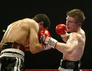 Ricky Hatton sunk opponent Aldo Rios at the end of the ninth round (Nick Potts/PA Archive)