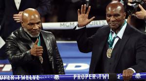 Mike Tyson, left, and Evander Holyfield, right, are regarded as two of the finest heavyweights of all-time (Bradley Collyer/PA)