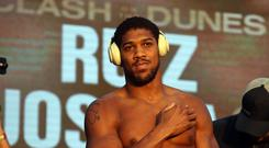 Anthony Joshua and Andy Ruiz Jr's weights have headed in opposite directions since their first fight (Nick Potts/PA)