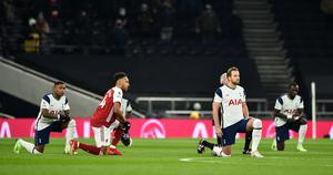 Premier League players have continued to take a knee since football resumed in June (Glyn Kirk/PA)