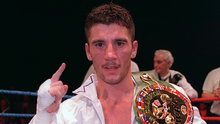 On top: Wayne McCullough with the WBC bantamweight belt