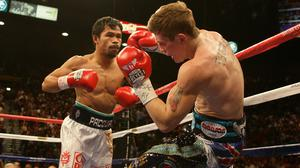 Ricky Hatton (right) announced his retirement two years after being beaten by Manny Pacquiao in Las Vegas (Dave Thompson/PA).