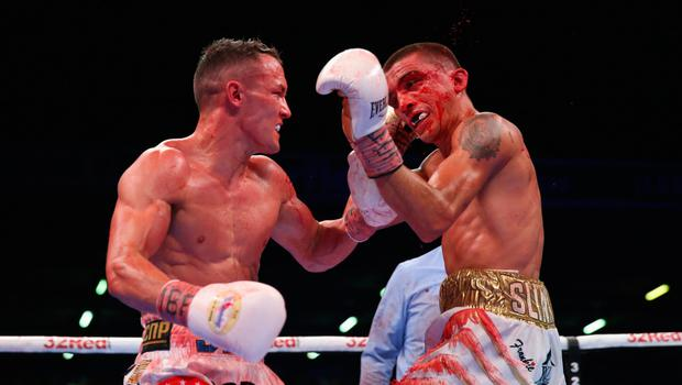 Warrington during his bout with Lee Selby