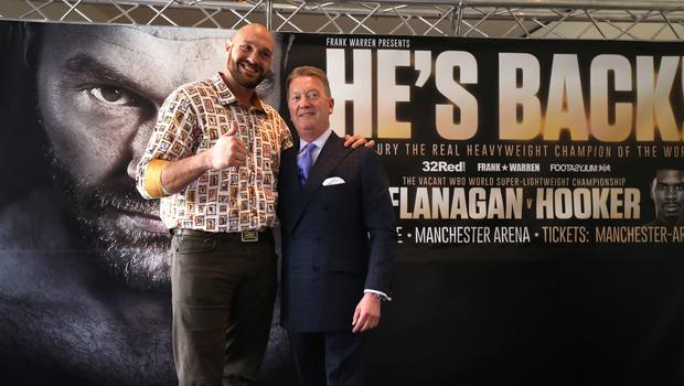 Tyson Fury Press Conference – Lowry Hotel
