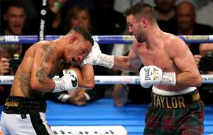Josh Taylor, right, defeated Regis Prograis last October (Paul Harding/PA)