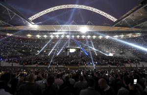 Tens of thousands of fans packed Wembley (Adam Davy/PA)