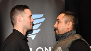 Josh Taylor, left, and Humberto Soto will fight in Glasgow